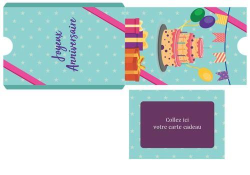 Pochette carte cadeau pour Anniversaire