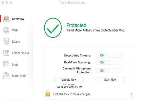 Trend Micro Antivirus pour Mac 2017