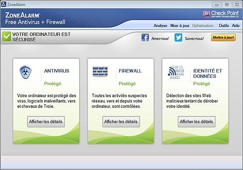 ZoneAlarm Free Antivirus + Firewall 2015
