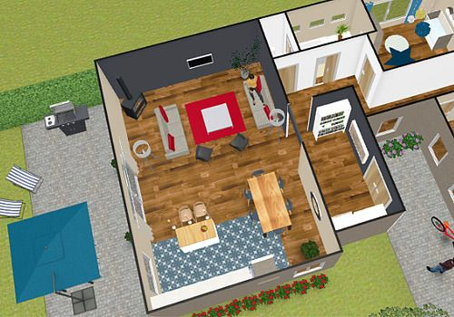 Plan Appartement D Gratuit Simple Plan Maison En V Tulipe Plan D