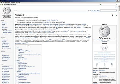 Xowa - Tout Wikipedia pour Linux