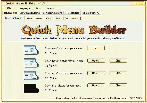 Quick Menu Builder