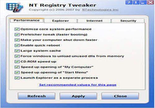 NT Registry Tweaker