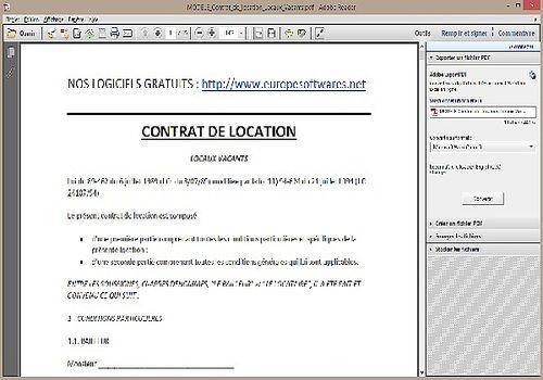 Modèle de Contrat de Location