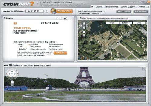 CTQuiBox - L'annuaire inversé GRATUIT