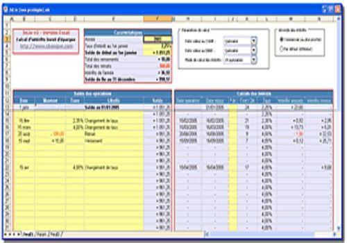 T l charger jxlivret pour windows freeware - Calcul tableau d amortissement emprunt excel ...