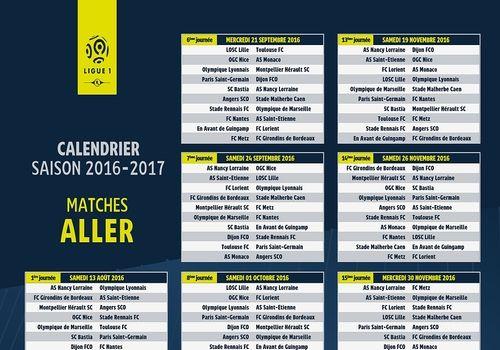 Télécharger Calendrier Ligue 1 2016-2017 pour windows | Freeware