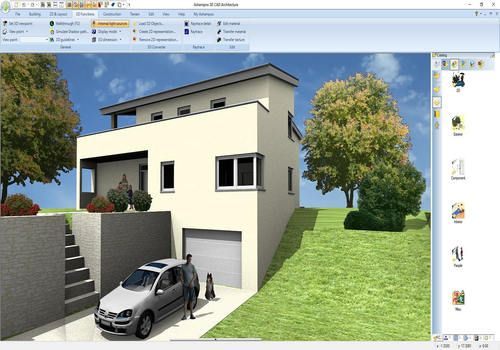Autocad 3d tractor download software cueboydown for Programme 3d maison
