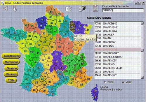 T l charger lccp france pour windows freeware for Homecourt code postal