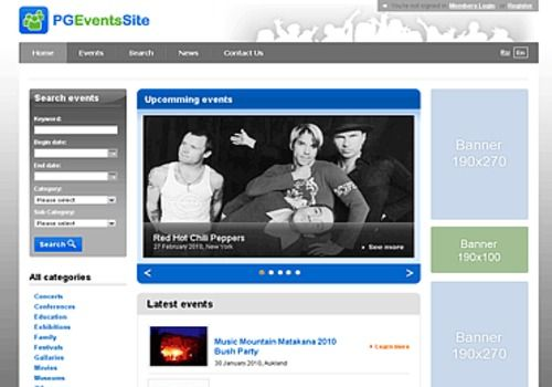 PG Events software