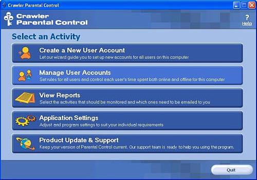 Crawler Parental Control Windows