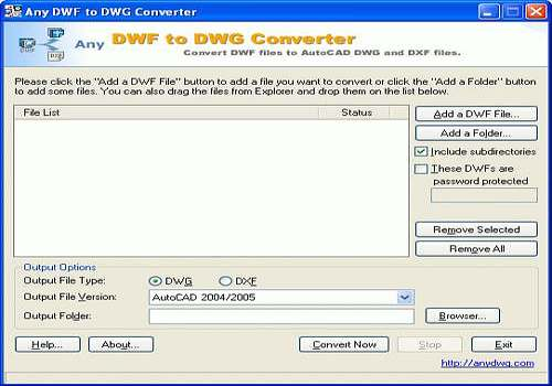 Any DWF to DWG Converter