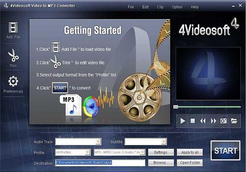 4Videosoft Convertisseur vidéo en MP3