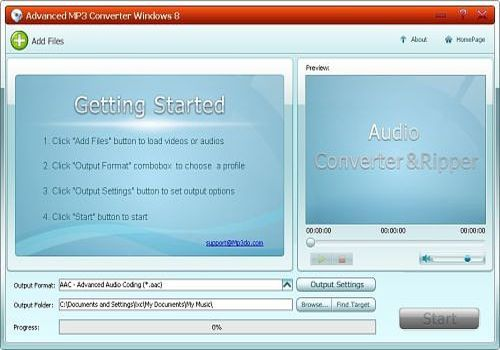 Advanced MP3 Converter Windows 8