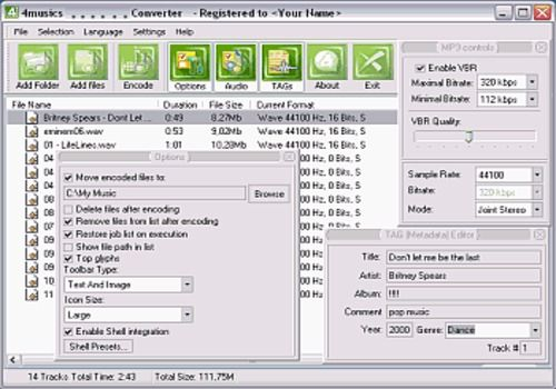 4Musics MP3 to WAV Converter