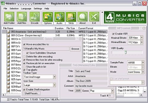 4Musics MP3 to WMA Converter