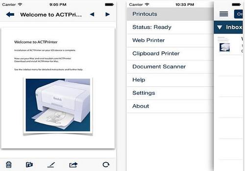 ACTPrinter - Imprimante virtuelle iPhone iPad Mac
