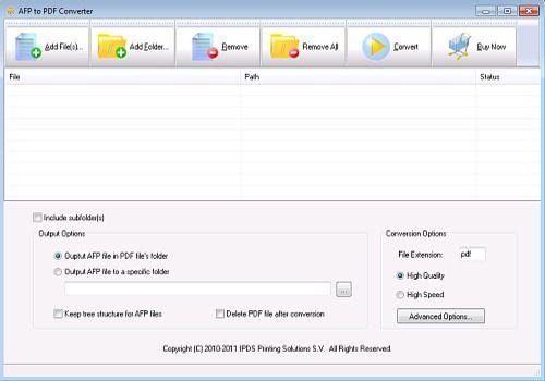 AFP to PDF Converter