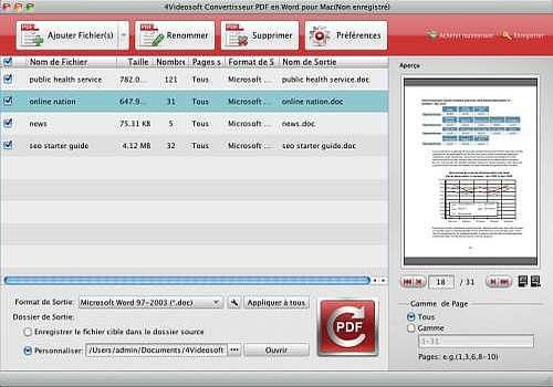 T l charger 4videosoft convertisseur pdf en word pour mac 3 shareware - Convertisseur word open office ...