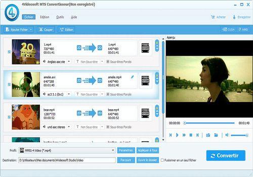 4Videosoft MTS Convertisseur