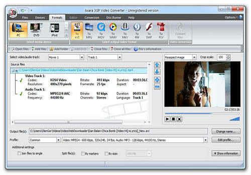 téléchargement gratuit allok 3gp psp mp4 ipod convertisseur vidéo