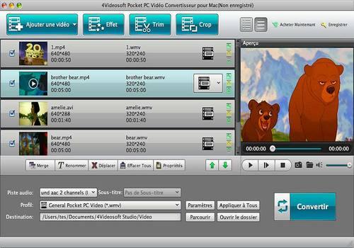 4Videosoft Pocket PC Vidéo Convertisseur pour Mac