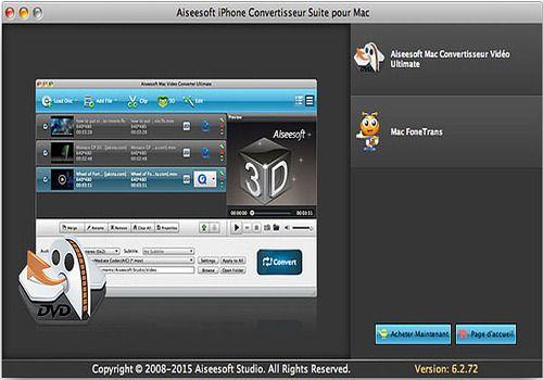 T l charger aiseesoft iphone convertisseur suite pour mac 6 shareware - Logiciel couper video mac ...