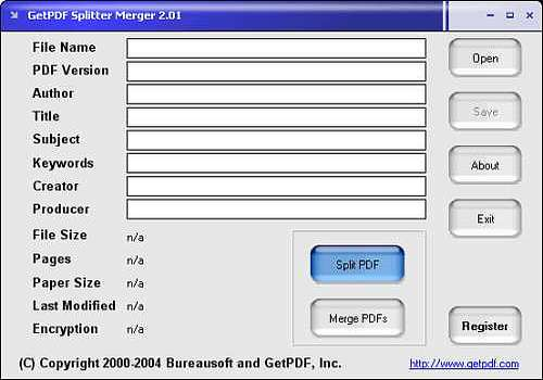 GetPDF Splitter Merger