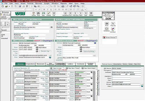 WDI FX Pest Control Software