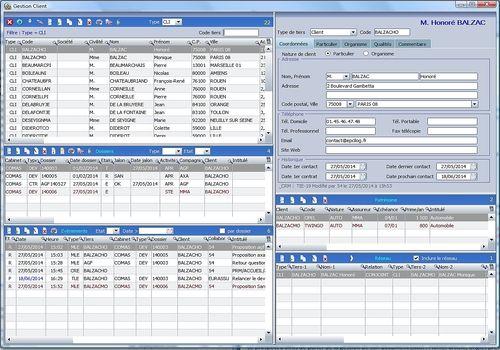 CRM Courtage Assurance et produits financiers