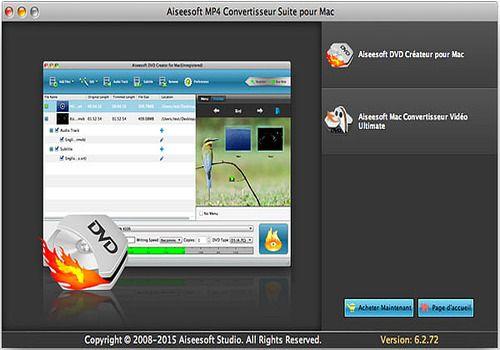 T l charger aiseesoft mp4 convertisseur suite pour mac 6 shareware - Logiciel couper video mac ...