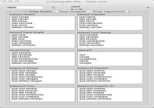 T l charger el conjugador mac shareware for Conjugaison espagnol hablar