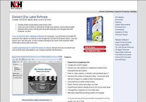 Disketch CD Label Software