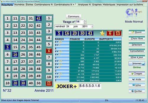 T 233 L 233 Charger Euro Millions Expert Pro Pour Windows Shareware