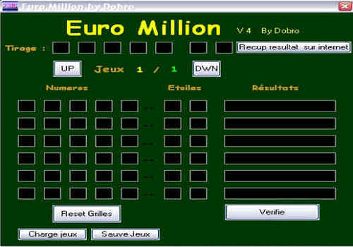 T 233 L 233 Charger Euro Million Pour Windows Freeware