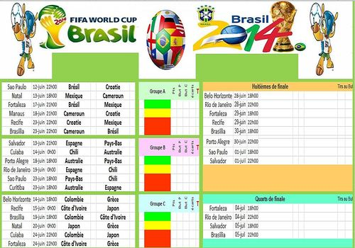 T l charger calendrier coupe du monde br sil 2014 pour windows freeware - Calendrier coupe du monde 2015 ...