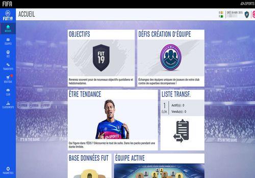 FIFA 19 Companion Web App