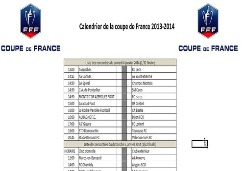 T l charger calendrier coupe de france de football 2014 - Tirage au sort coupe de france 2014 2015 ...