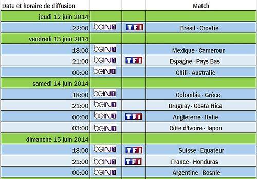 Diffusion de la coupe du monde 2014 horaires des matches - Diffusion coupe du monde de handball 2015 ...
