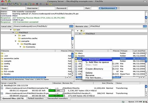 FileZilla Mac