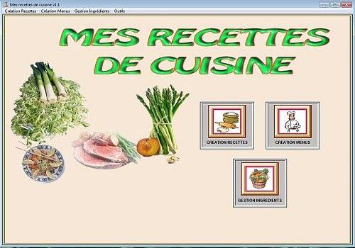 T l charger mes recettes de cuisine pour windows shareware for Logiciel cuisine plus