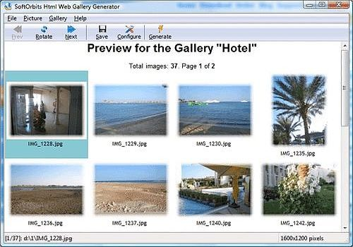 Image to HTML Converter