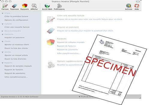 Express Invoice Plus pour Mac