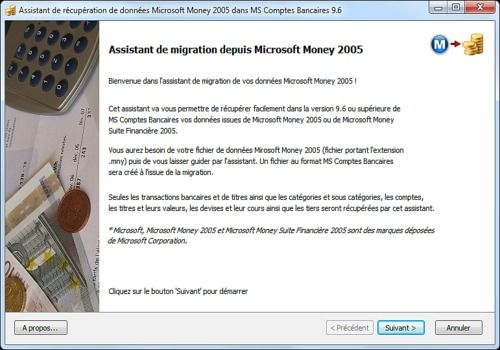 Microsoft Money vers MS Comptes Bancaires