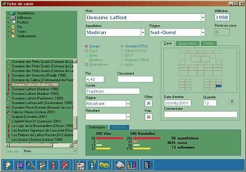 T l charger navicave pour windows freeware for Logiciel gestion de cave a vin