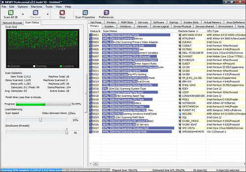 NEWT Professional Network Inventory