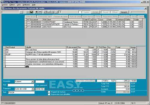 Gestion de Stock et facturation EasyForYou