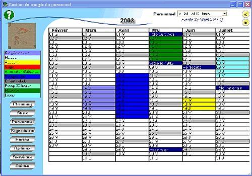 modele planning de conges annuels