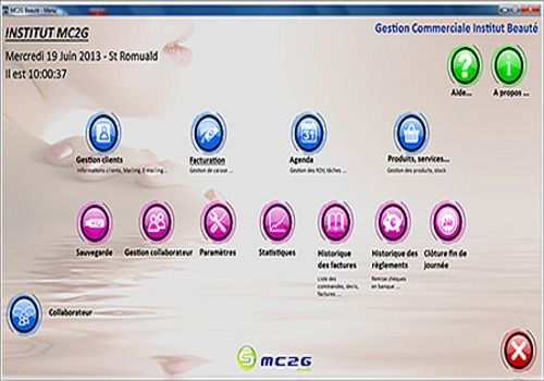 logiciel institut de beaute mac