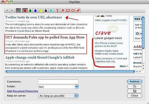Atmatic Clip2Net for Mac